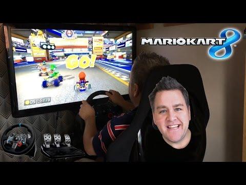 Let's Race - Mario Kart 8 Wii U - Logitech G29 Wheel & Pedals 1080p Arcade Racer Cemu