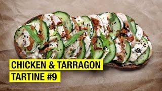 $3.18 Tartine with Chicken, Tarragon, Cream & Pickles !