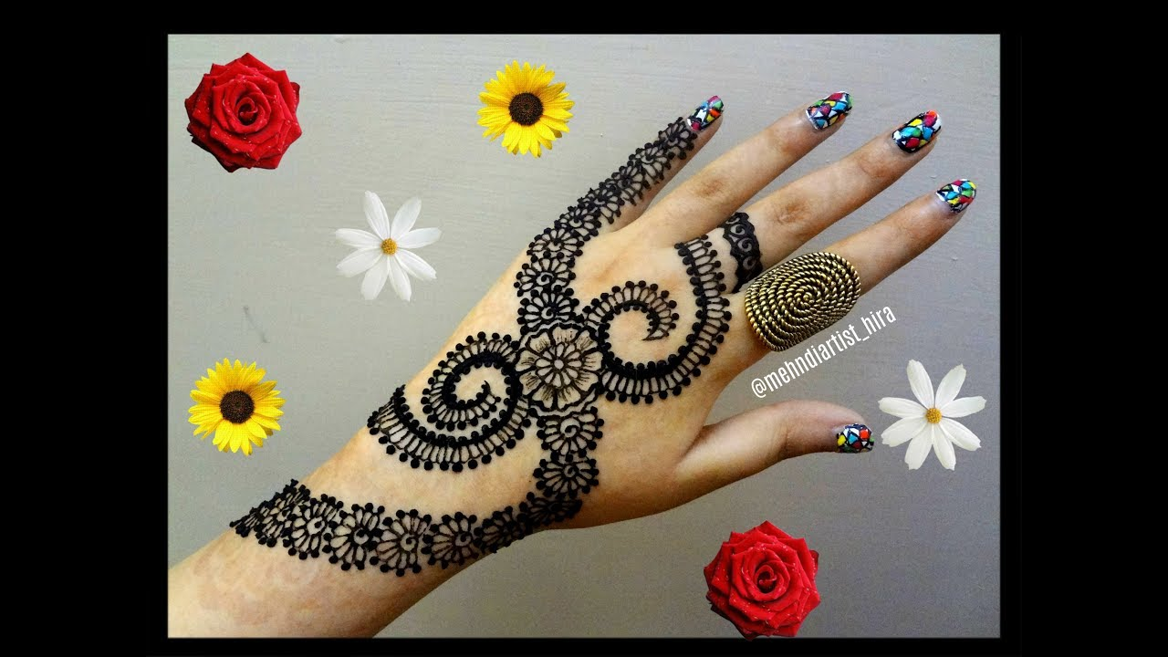 Mehndi Designs Tutorial : Diy henna designs how to apply easy simple new stylish