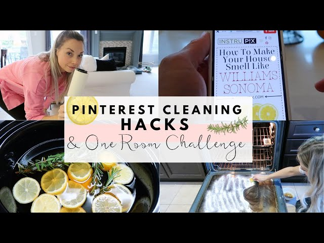 Spring Cleaning Pinterest Hacks | & One Room Challenge Intro