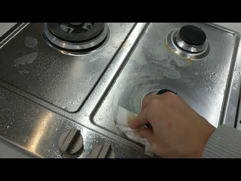 Cleaning a stainless steel stove with Method VS. Vinegar