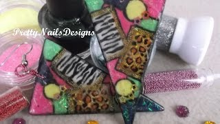 Amazing DIY 80´s Inspired Colourful Triangular Earrings