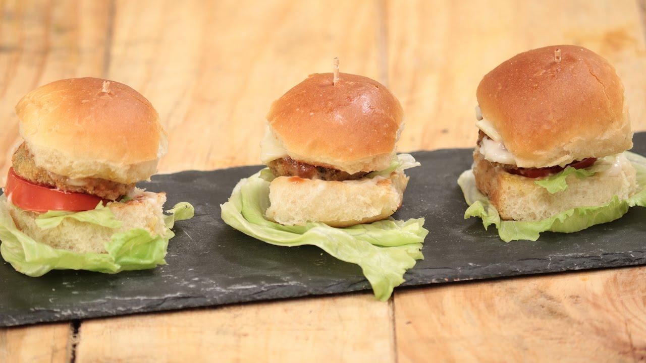 Mini Burger In Gujarati Snacky Ideas By Amisha Doshi Sanjeev Kapoor Khazana Youtube