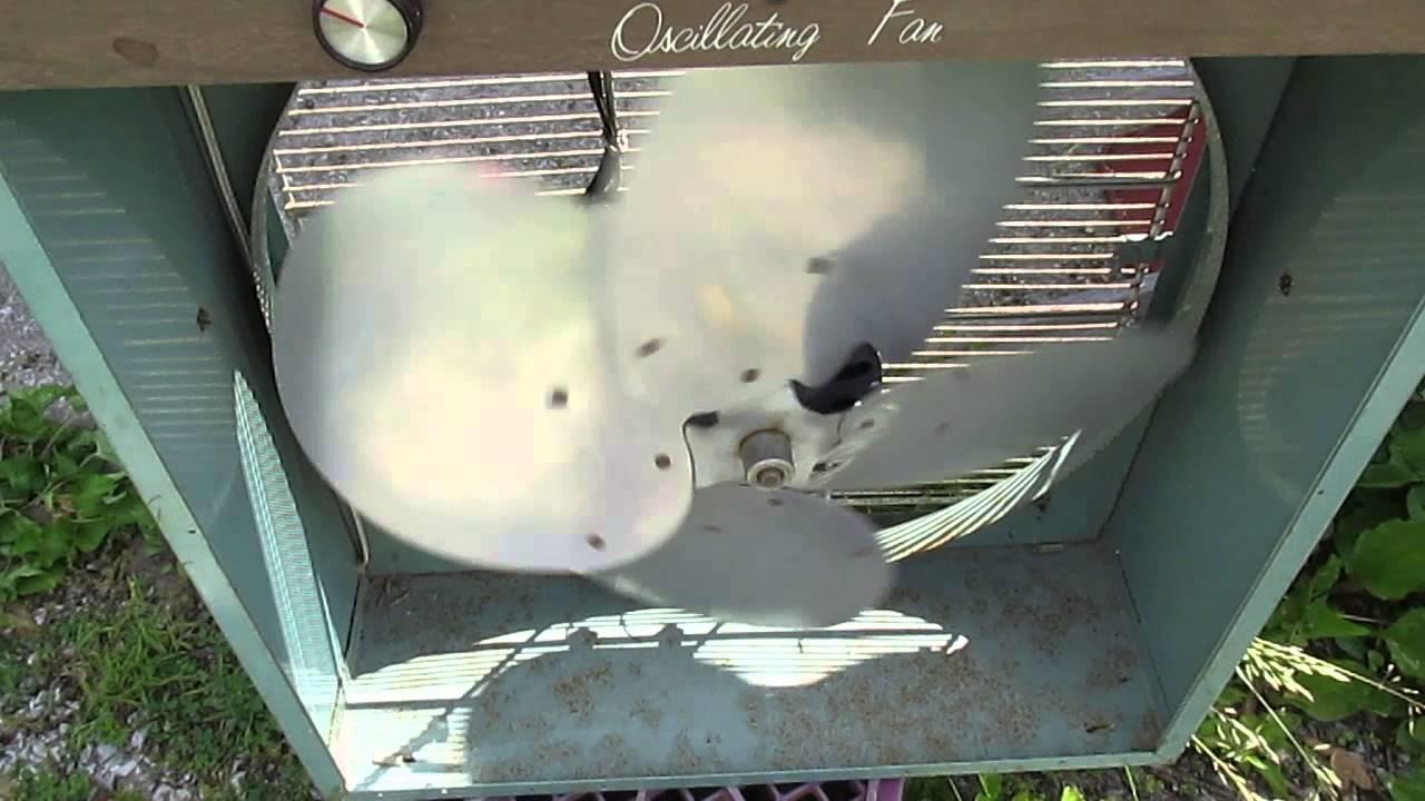 1960s Box Fan : Mid s lasko oscillating box fan youtube