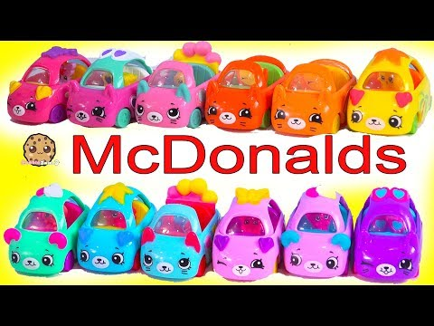LOL Surprise Goes to McDonalds for Happy Meal Shopkins Cutie Cars ! Full Set of 12