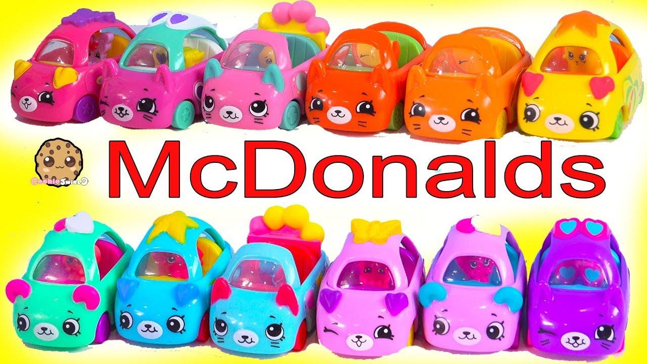 LOL Surprise geht bei McDonalds für Happy Meal Shopkins Cutie Cars! Voller Satz von 12 video