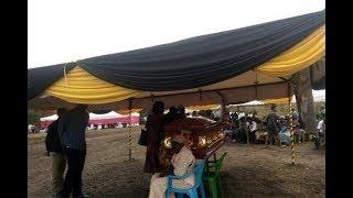 Rongo MP Paul Abuor speaking at Sharon Otieno's burial