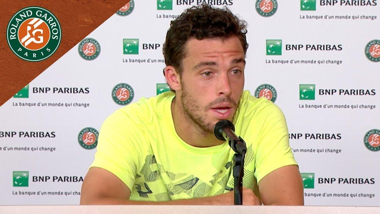 Marco Cecchinato - Press Conference after Semi-Final I Roland-Garros 2018