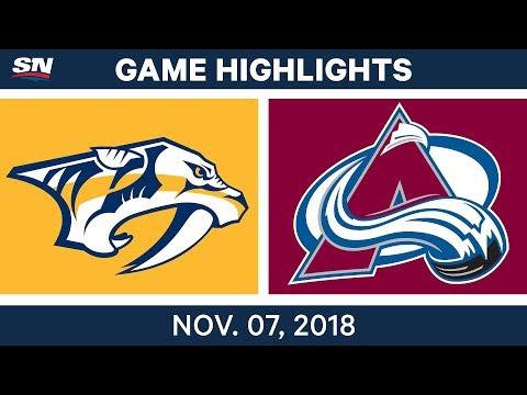 NHL Highlights | Predators vs. Avalanche – Nov. 7, 2018