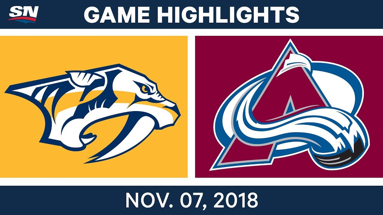 NHL Highlights   Predators vs. Avalanche – Nov. 7, 2018
