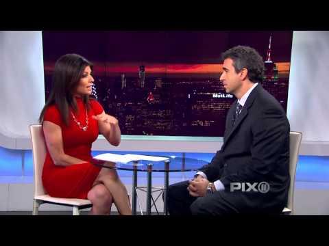 PIX11 News at 5 - Tamsen Fadal hot body in tight dress (1-06-14)