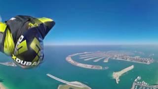 Wingsuit 360 degree video over Dubai thumbnail
