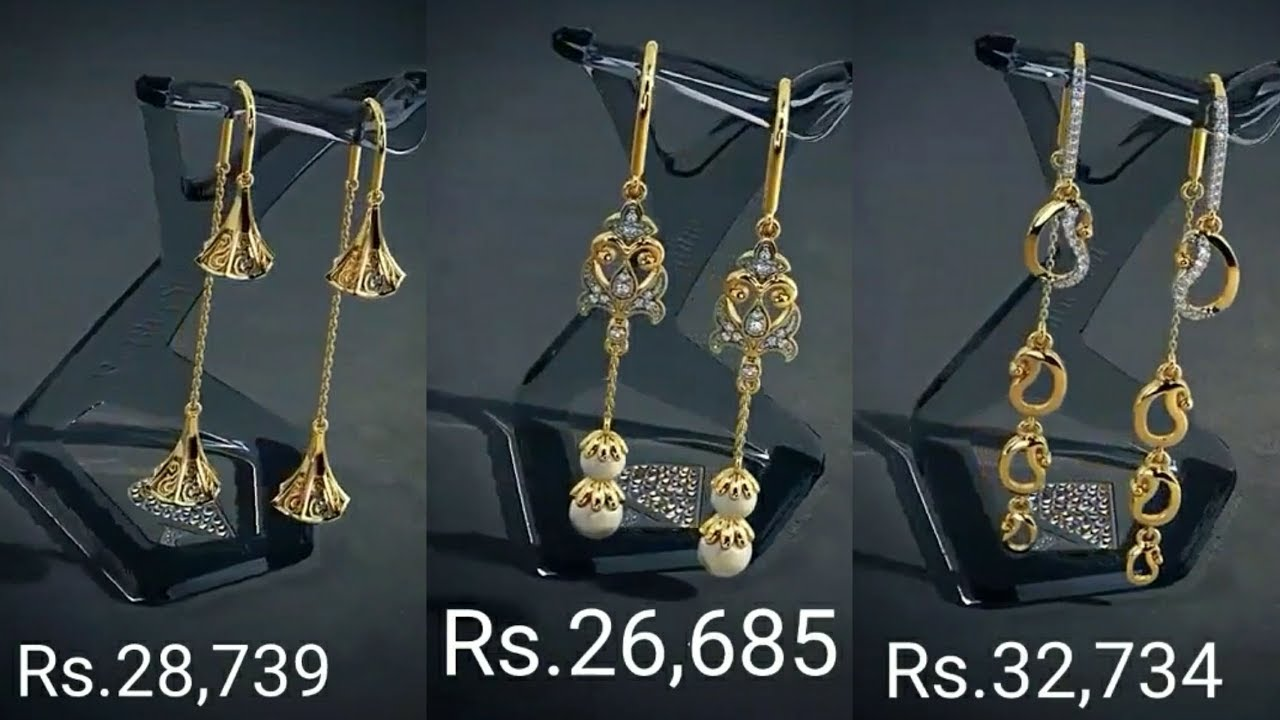 Gold Sui Dhaga Earrings With Price By Bluestone Youtube