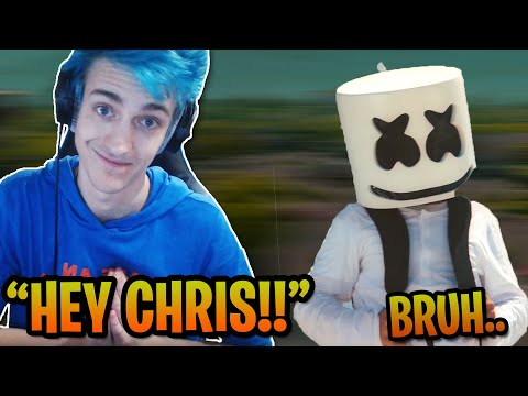 NINJA ACCIDENTLY EXPOSES MARSHMELLO'S REAL NAME WHILE PLAYING FORTNITE! *MAD* Fortnite FUNNY Moments