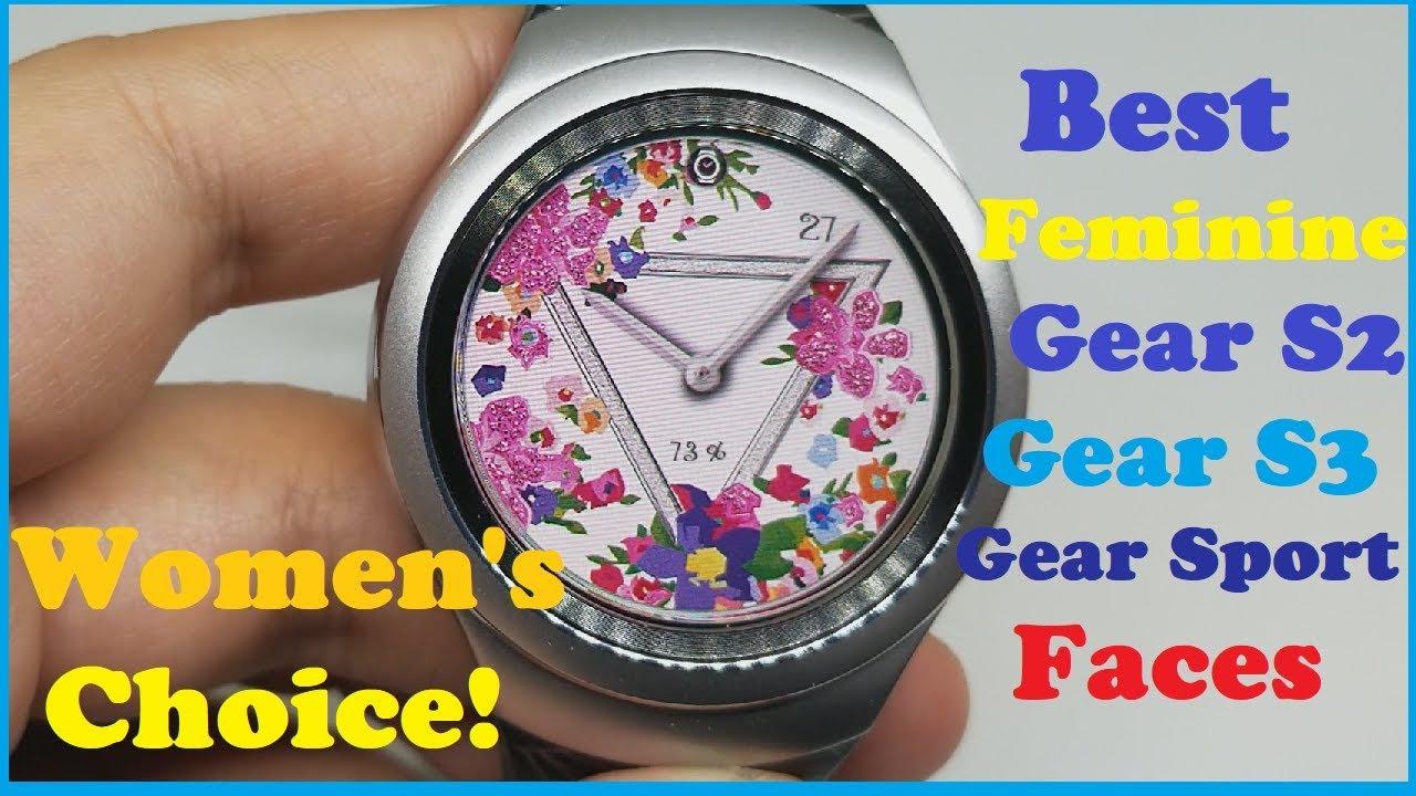 Best Feminine watch faces for Samsung Gear S2   Gear S3   Gear Sport Smart  watch - Women s choice! ef4a958cae