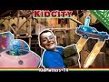 Brick Wall Destroyed! KidCity CHILDREN's MUSEUM Fun Indoor Play Area-Activities[KM+Parks&Rec S01E13]