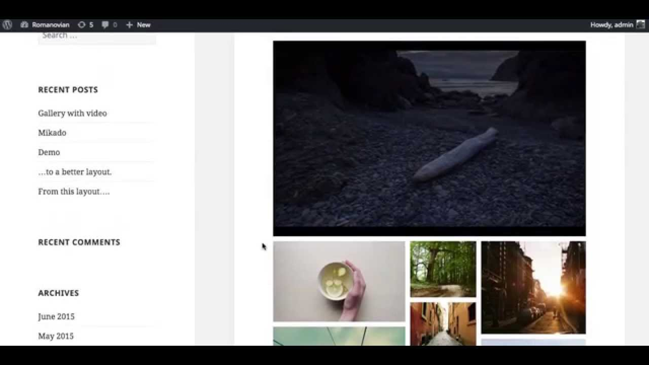 Add a Vimeo Video to a Final Tiles Grid Gallery for WordPress