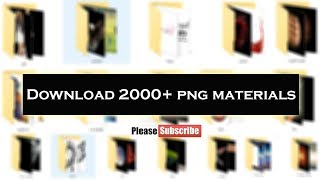 2000+ png materials file for Photo editing | H Editz