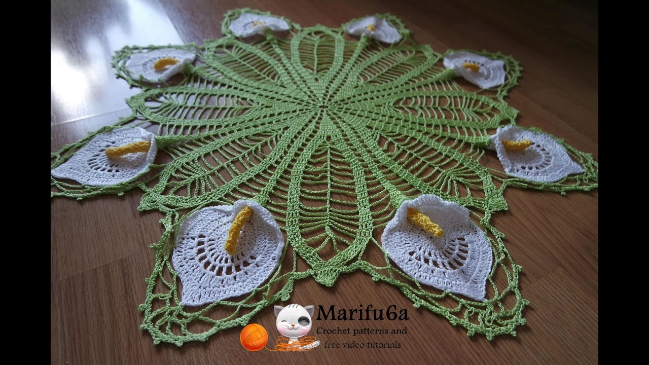 How To Crochet Doily Calla Lily Pattern Free Tutorial By Marifu6a