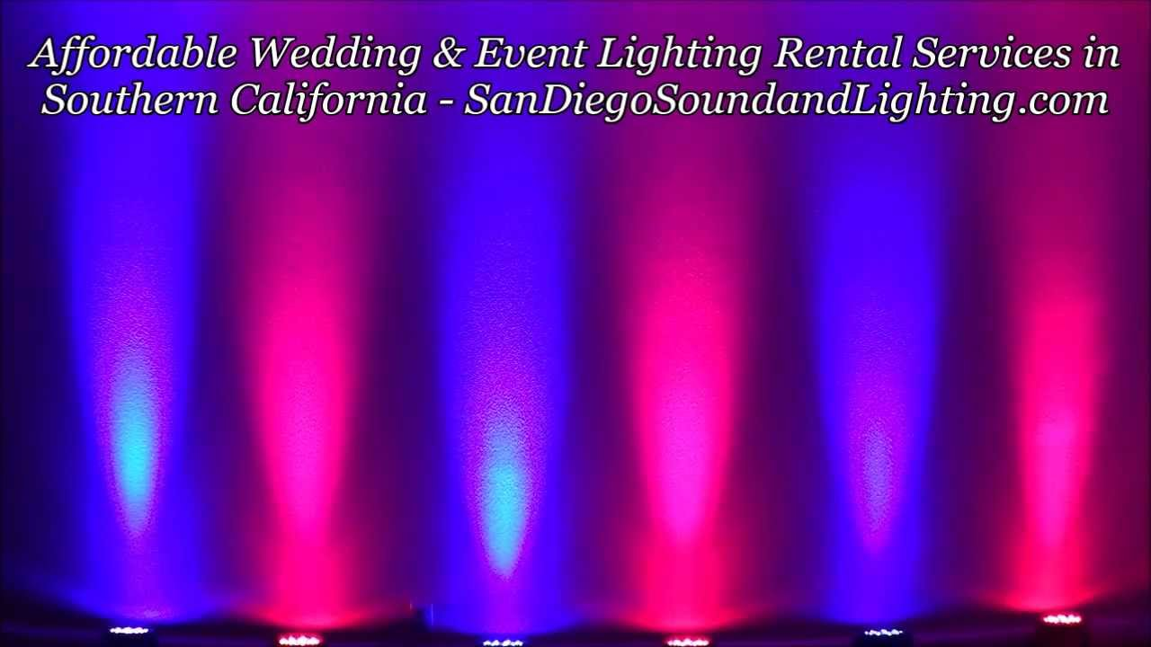 Event Lighting Rental Riverside Pink Amp Blue UpLighting Demo Wedding Decoration Ideas