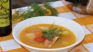 Making a delicious fish soup at the beach.(Recipe)
