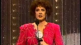Stockard Channing wins 1985 Tony Award for Best Actress in a Play