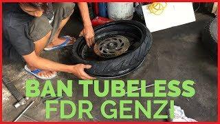 Tutorial Cara Memasang Ban Tubeless Motor | FDR GENZI TUBE TYRE