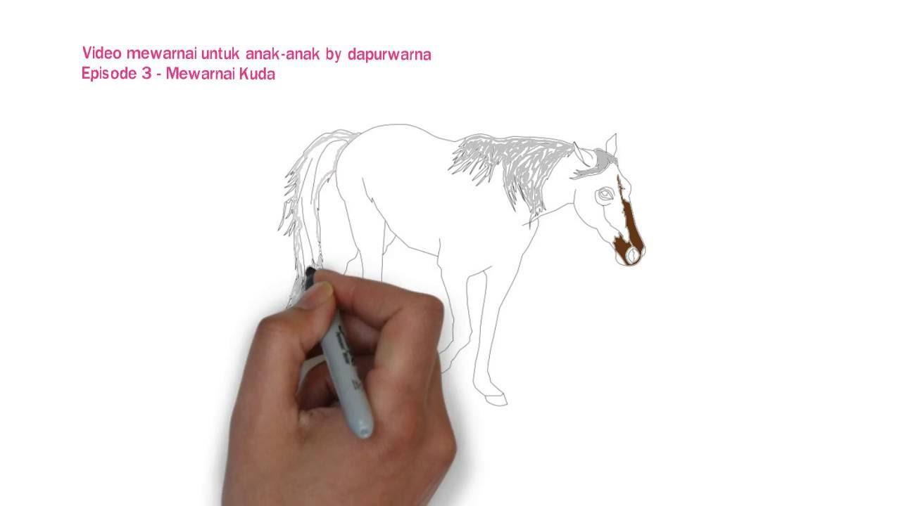 Video Mewarnai Kuda Coloring Horse Untuk Anak Anak Youtube