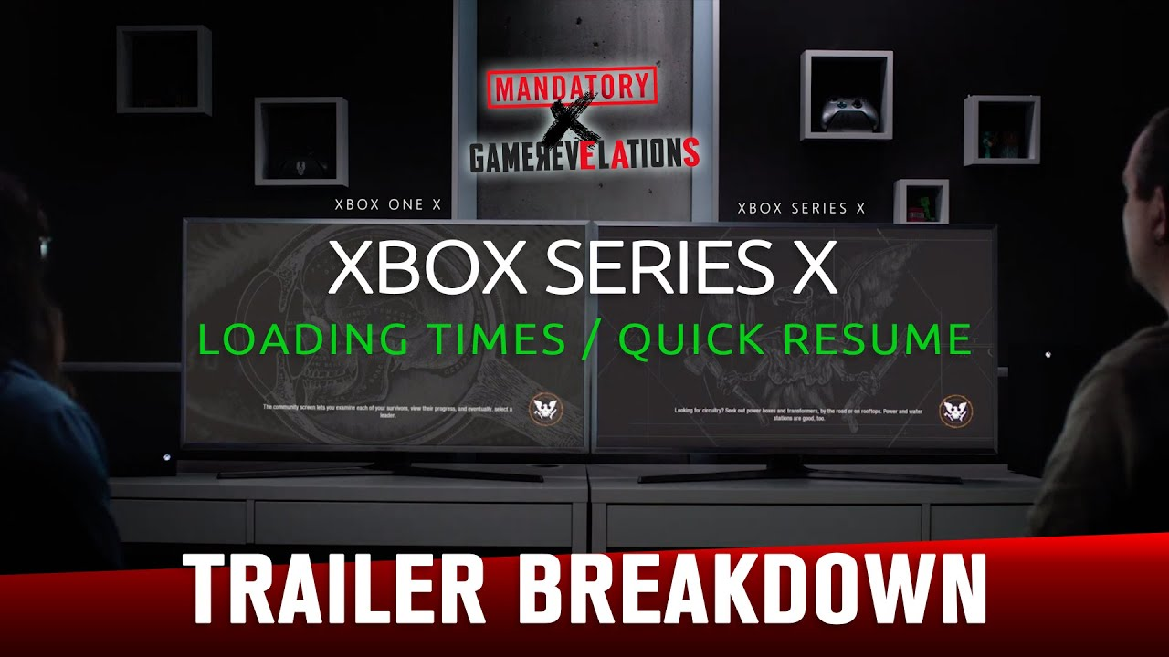 Xbox Series X Loading And Quick Resume Times Trailer Breakdown Gamerevelations Youtube