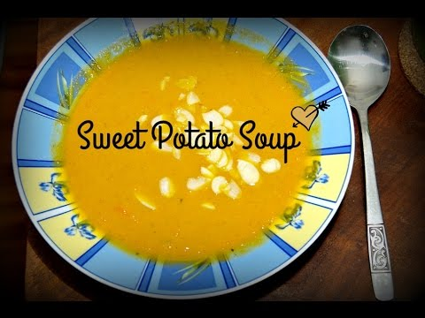 Sweet Potato Soup with Ginger and Coconut Milk (vegan)