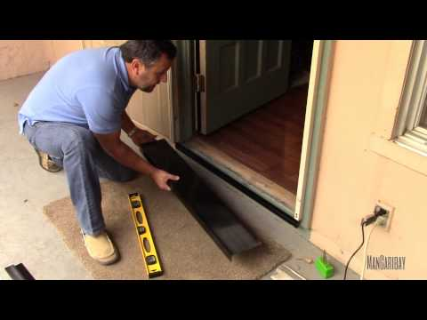 Under secutity screen door gap seal kit installation video youtube for Gap under exterior door threshold