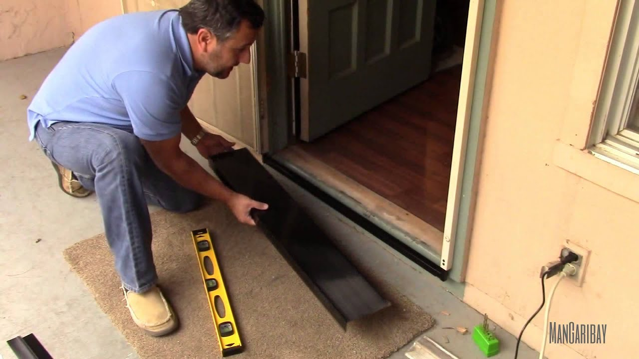 Under Secutity Screen Door Gap Seal Kit Installation