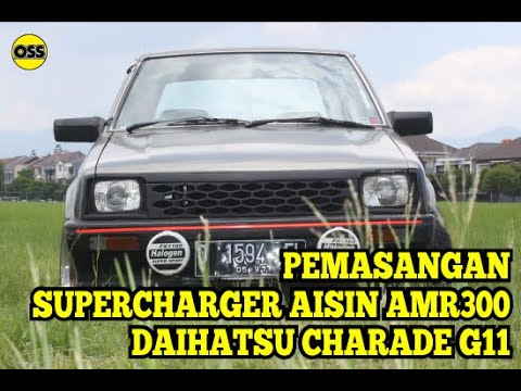SUpercharger Aisin Amr300 Instalation on Daihatsu Charade G11 1985