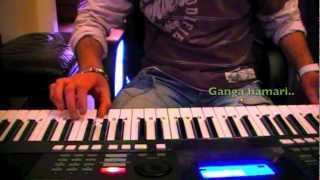 Ram teri ganga maili-(male version) on keyboard
