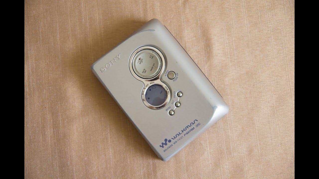 кассетный плеер Sony Walkman Wm Fx521 топовый Youtube