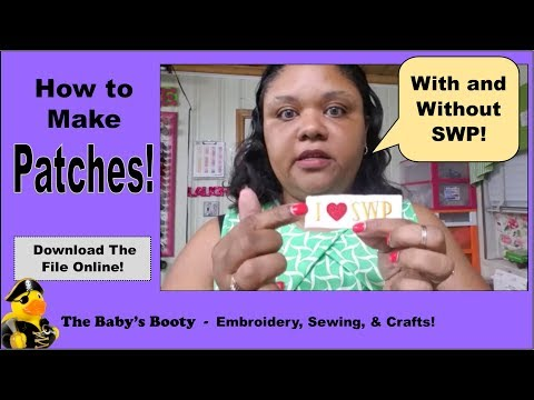 How to Embroider a Patch! Easy DIY with The Baby's Booty
