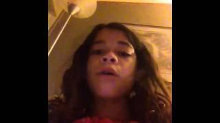 Little girl singing like a pro