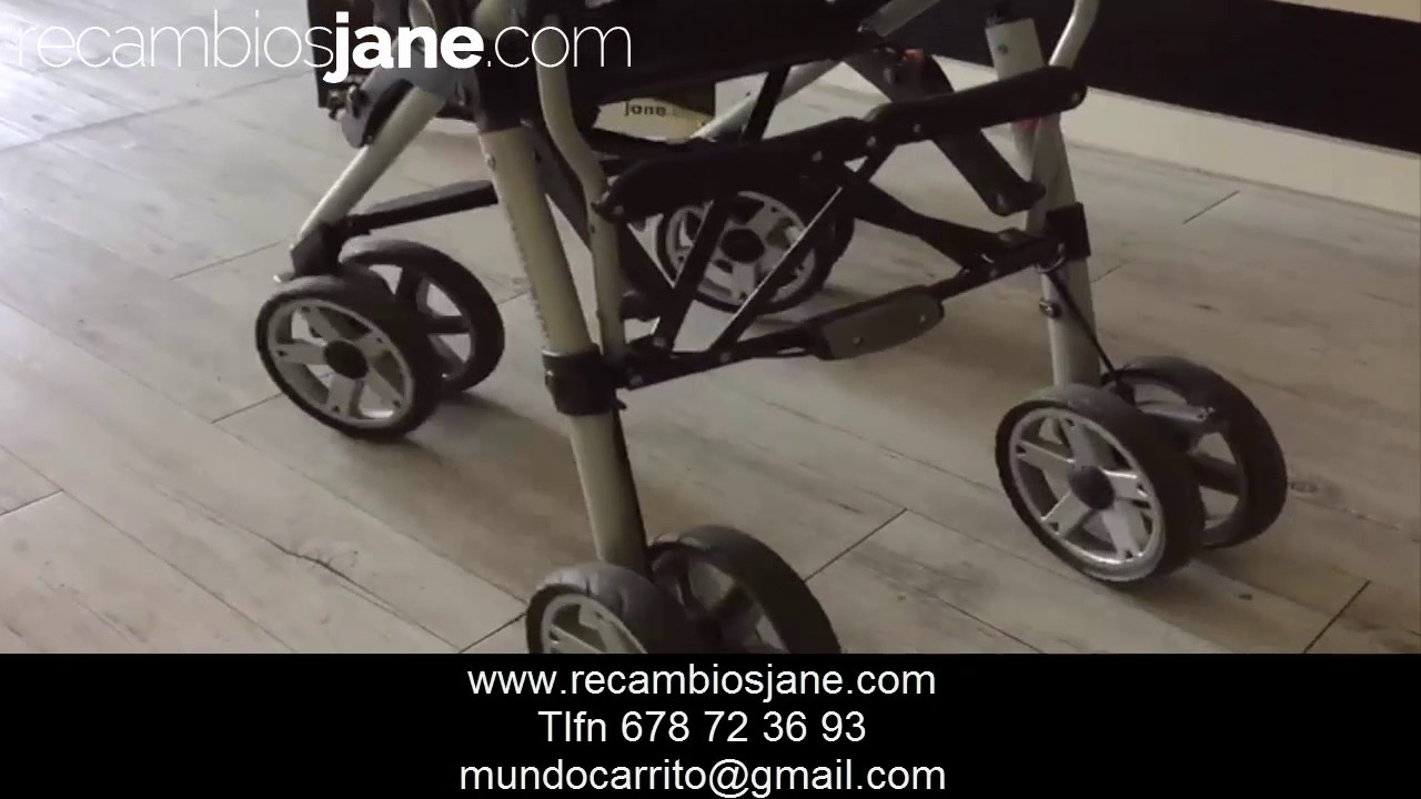 6aca872aa Reparacion y cambio de ruedas cochecito jane carrera pro - YouTube