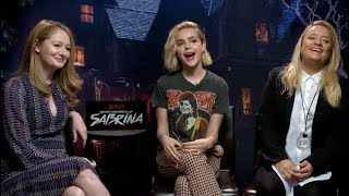 CHILLING ADVENTURES OF SABRINA interviews - Shipka, Davis, Otto, Ross, Lynch, Perdomo, Gomez