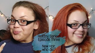Holiday Series: Episode Three | Brown to Copper Hair Tutorial ft. Loreal Hilights Hair Dye