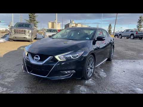 Black 2016 Nissan Maxima PLATINUM Review   - Western GMC Buick