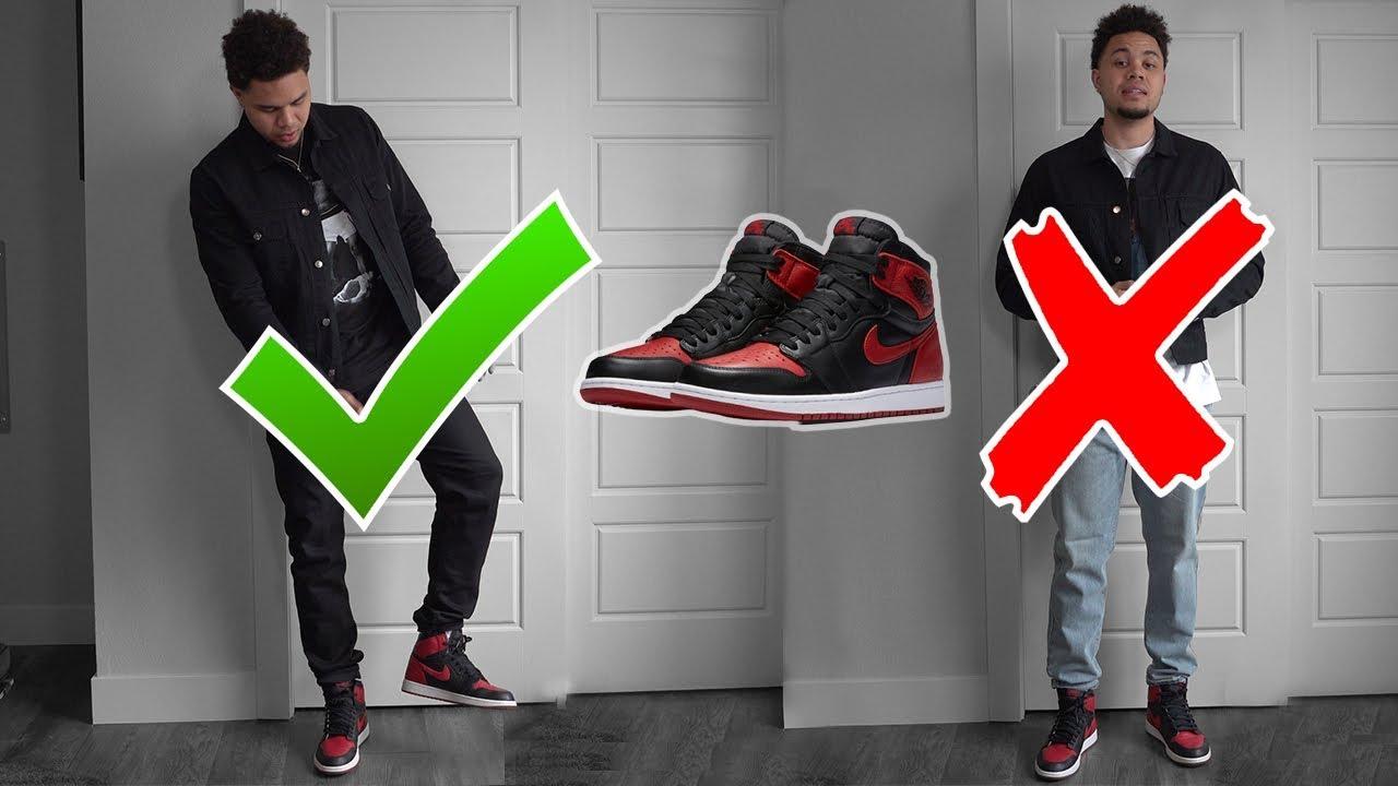 Contiene Descompostura campeón  5 Outfit Ideas For Air Jordan 1 Bred! Fashion Nova Men - YouTube
