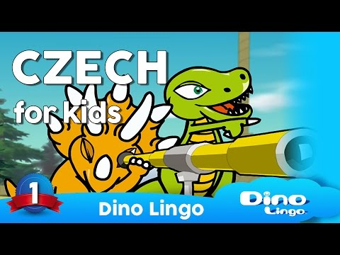 Czech for kids DVD set - Children learning Czech language, čeština