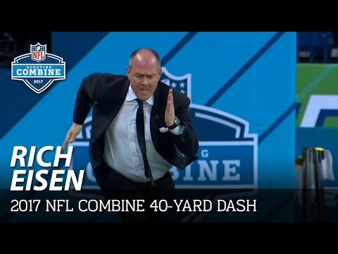 Rich Eisen's 40-Yard Dash & SimulCam Against John Ross, Evan Engram And Others | NFL