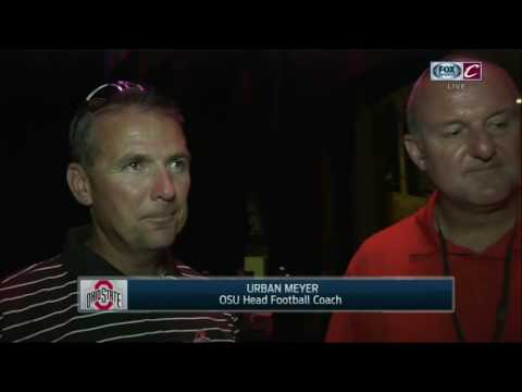 Ohio State Coaches Urban Meyer and Thad Matta said watching Cavs win brought tears to their eyes