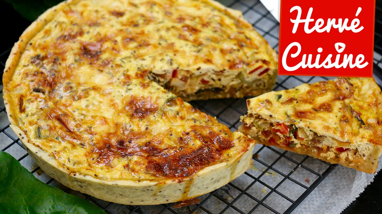 Recette de quiche v g tarienne facile youtube for Cuisine de quiches originales et gourmandes