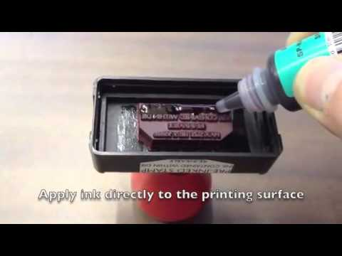 How To Re Ink A Gel Pre Inked Stamp