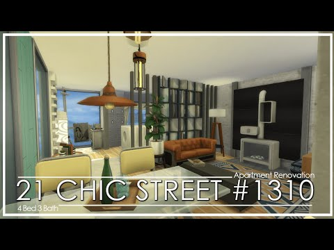 cozy-&-calm-studio-apartment- -the-sims-4- -no-cc- -stop-motion- -apartment-renovation