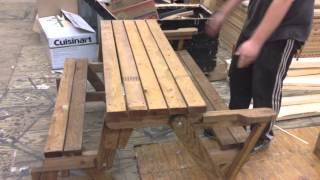 Combo Foldable Picnic Table/bench.