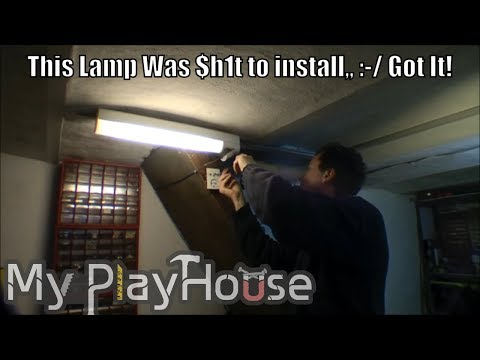 A very difficult installation of a lamp - 012